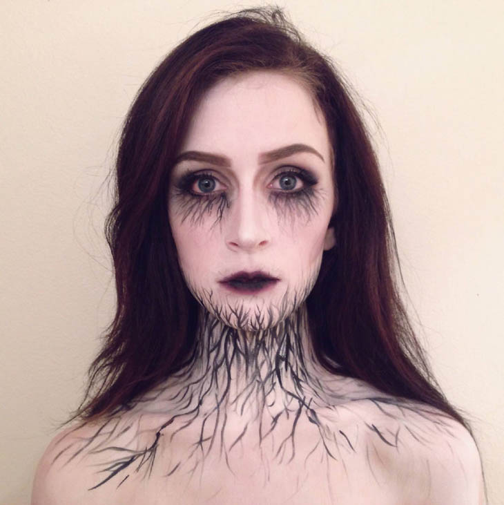 Infected Girl Halloween makeup