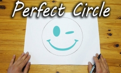 How To Draw A Perfect Circle Without Using Any Geometric Tools. It's Perfect!