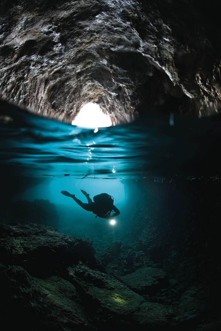 Blue Grotto in Capri, Italy