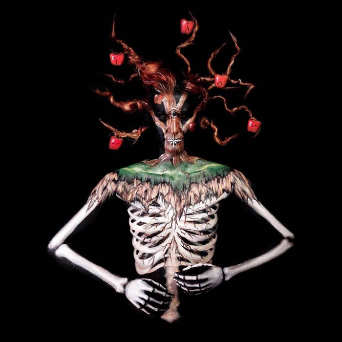 Spooky Skeleton Apple Tree