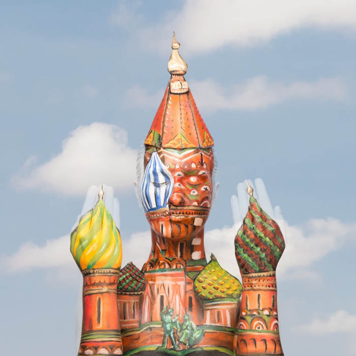 Body Painting Art - St. Basil's Cathedral