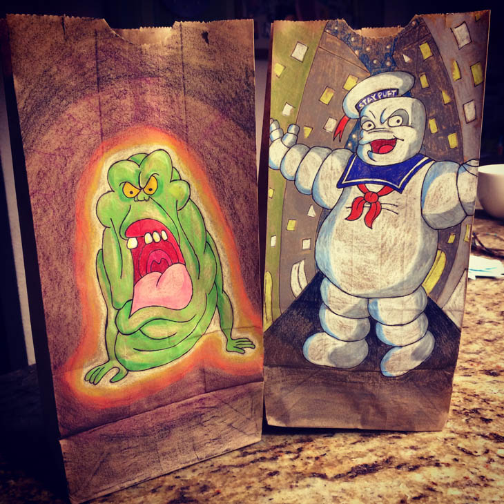 Slimer and Stay Puft Marshmallow Man