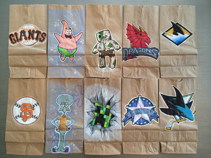 Lunch Bags Art - Some bags for a friend