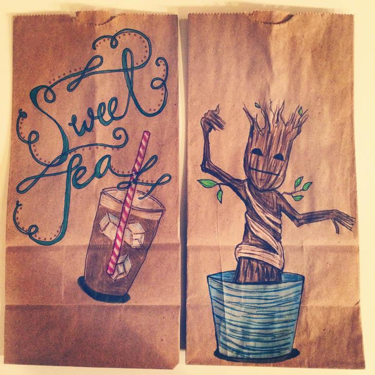 Sweet Tea and Groot