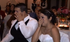 Father's Wedding Surprise Makes Bride And Groom Break Down In Tears.