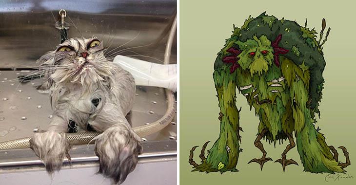 Swamp Monster Copycat Cats