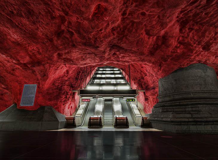 Beautiful Subway Stations - Solna Station, Stockholm, Sweden