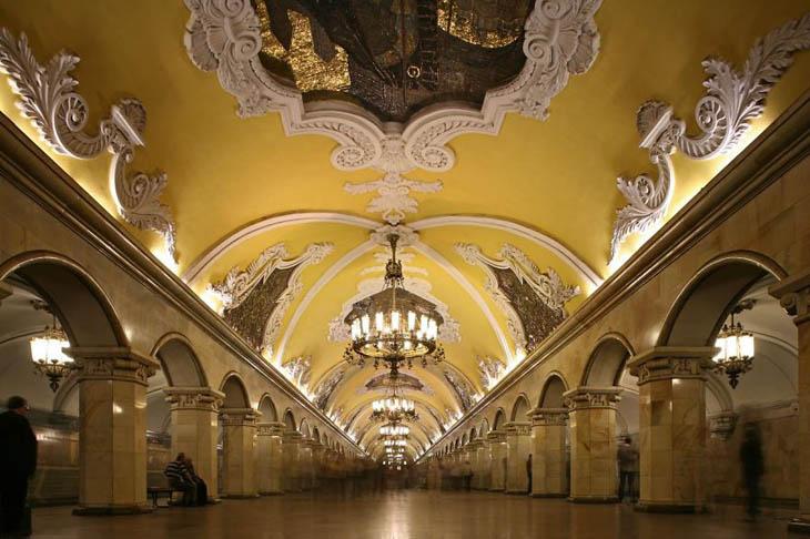 Beautiful Subway Stations - Avtovo Metro Station, St. Petersburg, Russia