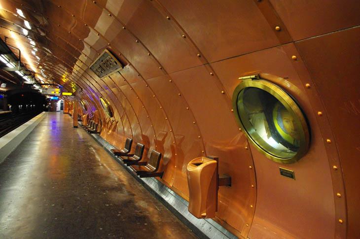 Beautiful Subway Stations - Arts Et Métiers Station, Paris, France