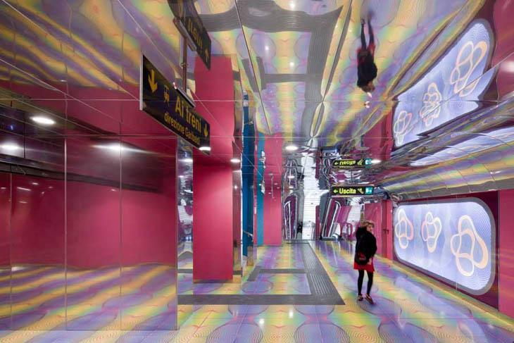 University Of Naples Subway Station, Italy