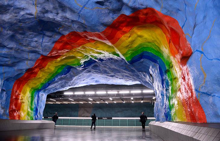 Beautiful Subway Stations - Stadion Station, Stockholm, Sweden