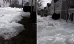 Mysterious Ice Gets Pushed Toward The Homes. It's Stunning, But Too Scary!