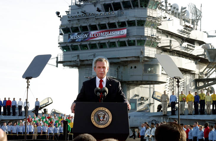 President Bush addresses sailors