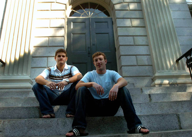 21st century photos - Mark Zuckerberg and Dustin Moscovitz in 2004, after they had just lauched FaceBook.