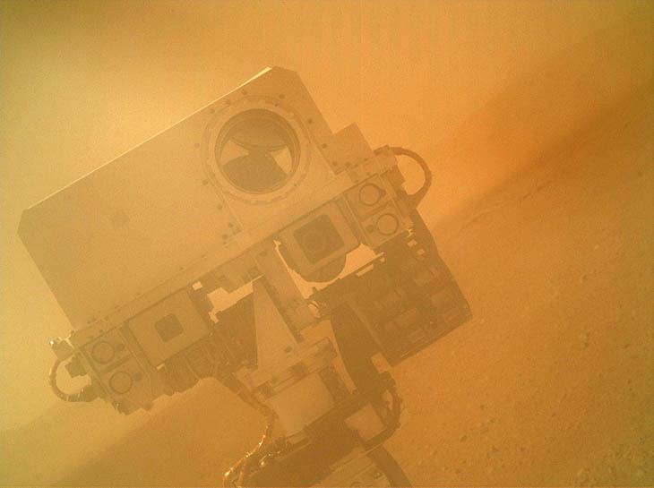 The US rover, Curiosity, takes a selfie on Mars [2012]