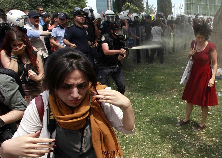 21st century photos - A woman is peper-sprayed at Turkey's Gezi Park protest. [2013]