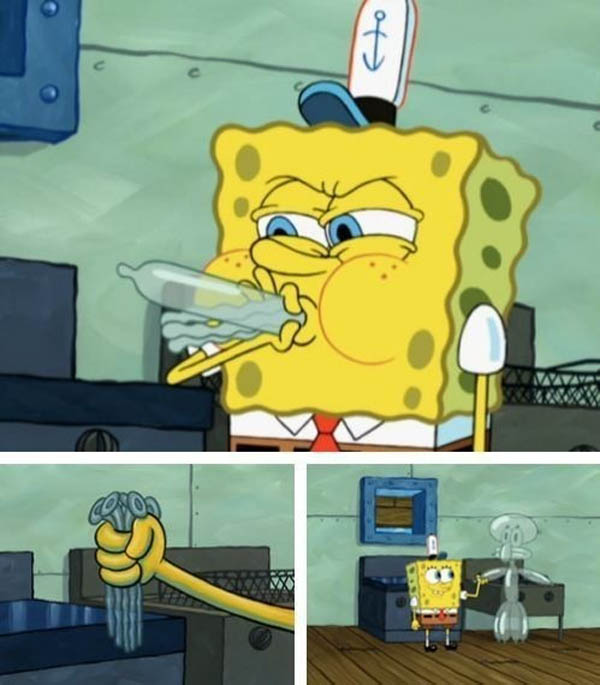 Childhood Shows Memory Ruined - What was SpongeBob blowing up?