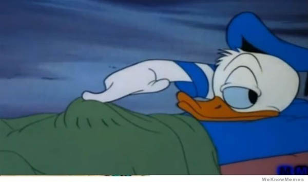 Childhood Shows Memory Ruined - Something was under Donald Duck's sheets.