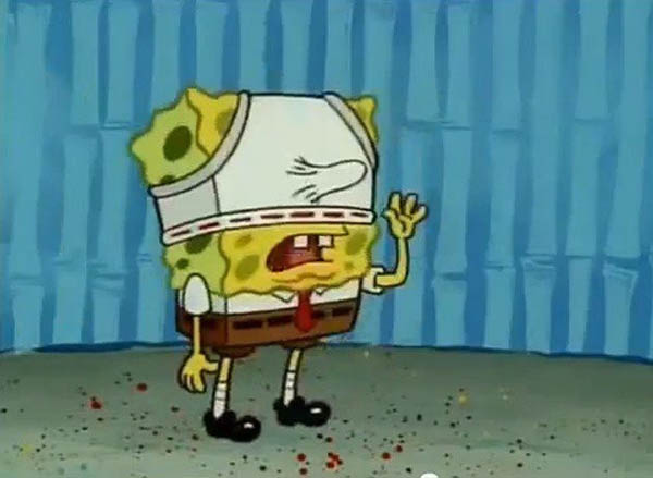 Childhood Shows Memory Ruined - Spongebob's funny looking nose.