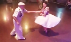 This Old Couple SHOCKS Everyone When They Walks On The Dance Floor! OMG!