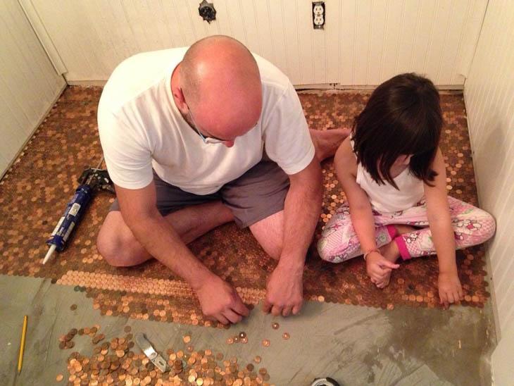 Little help by little helper for penny floor project.