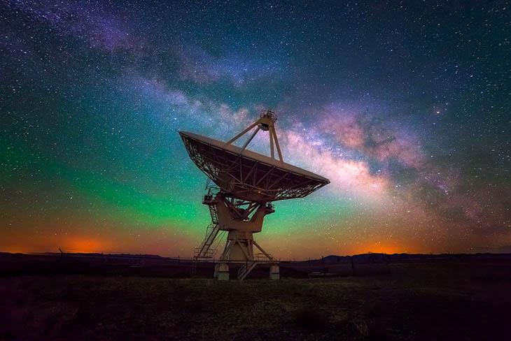 VLA And Milky Way (New Mexico, USA)