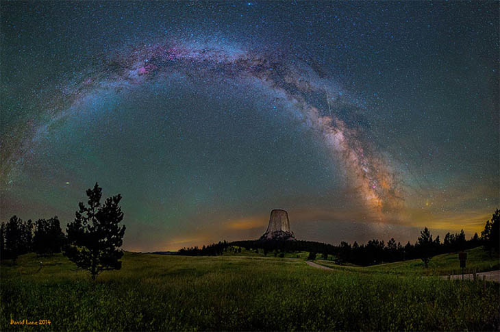Milky Way Galaxy Hanging Cver The Devil's Tower In Wyoming (western Usa)