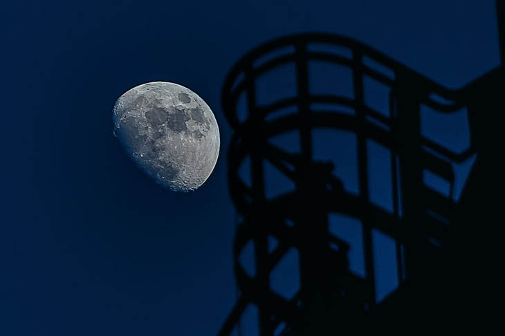 Techno Moon, Landschaftspark Duisburg, Germany