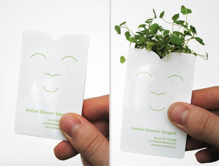 Designer's plant in your pocket card.