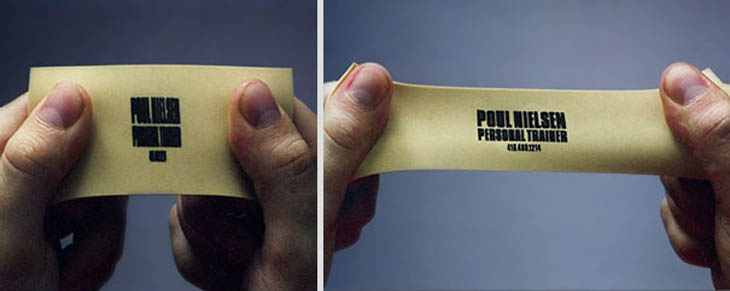Smartest business cards - Personal trainer's business card.