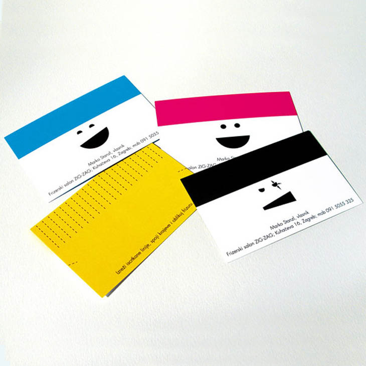 A hair dresser's business card. Give the card any style you like!