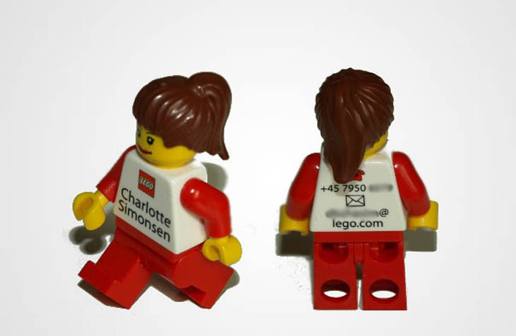 Smartest business cards - Your Own Personal Lego Agent