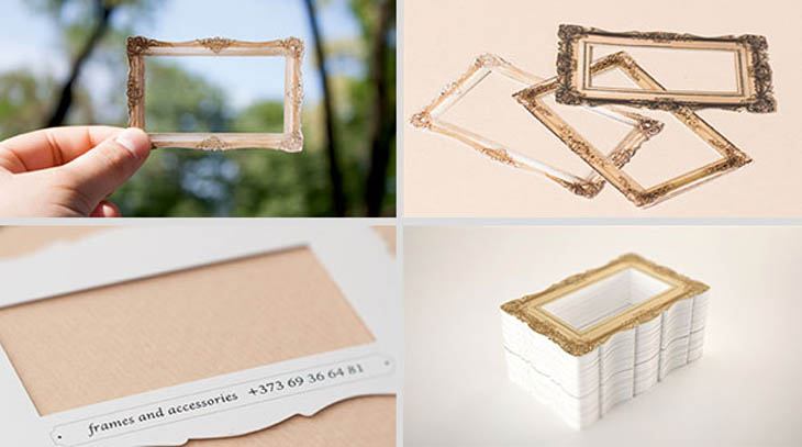 Smartest business cards - Picture frame business cards.