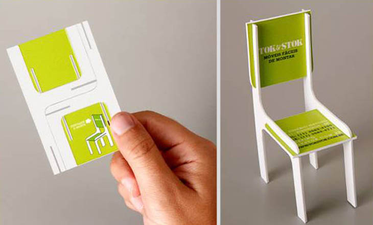 Smartest business cards - Toy Chair Business Card