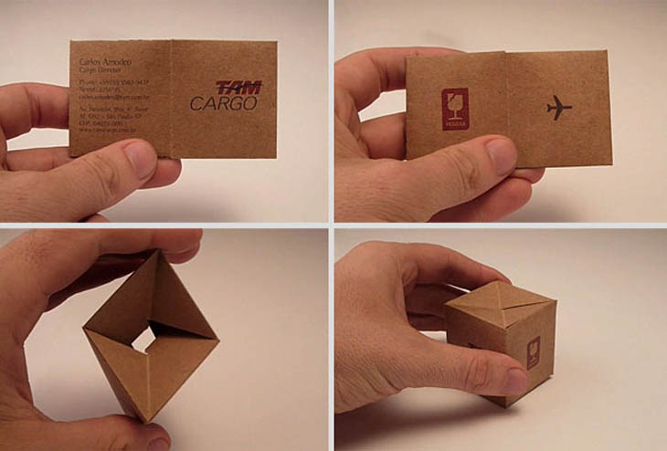 Smartest business cards - Transformable Cargo Box Business Card
