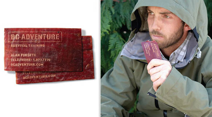 Smartest business cards - Survival Training Dried Meat Business Card