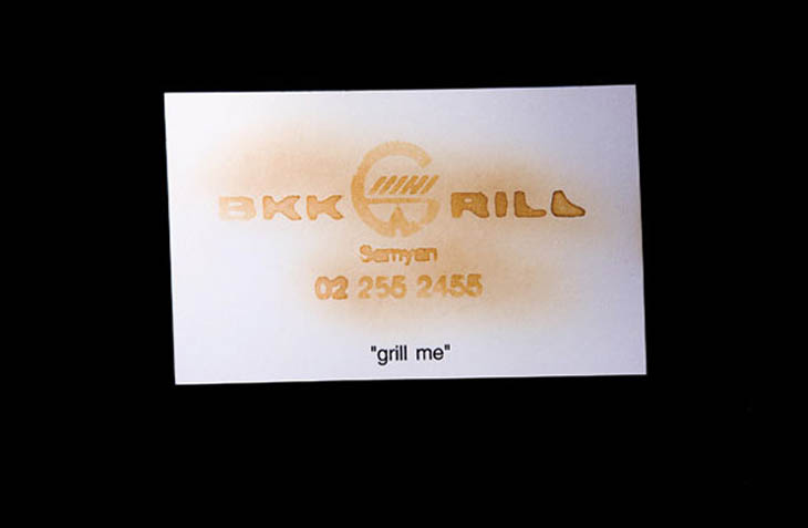 Grillable Business Card