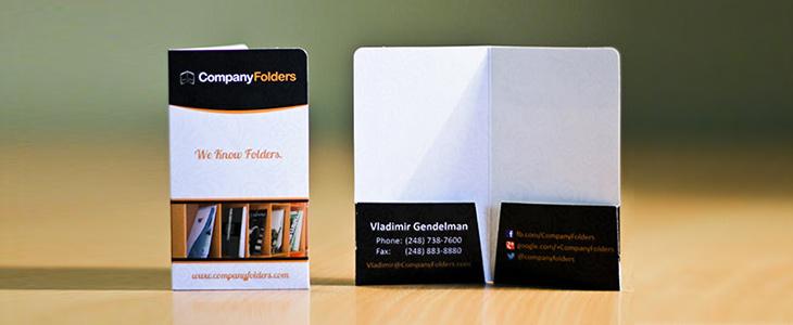 Smartest business cards - Mini 2 pocket business card folder.