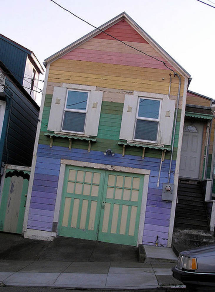This happy fun house has seen better days