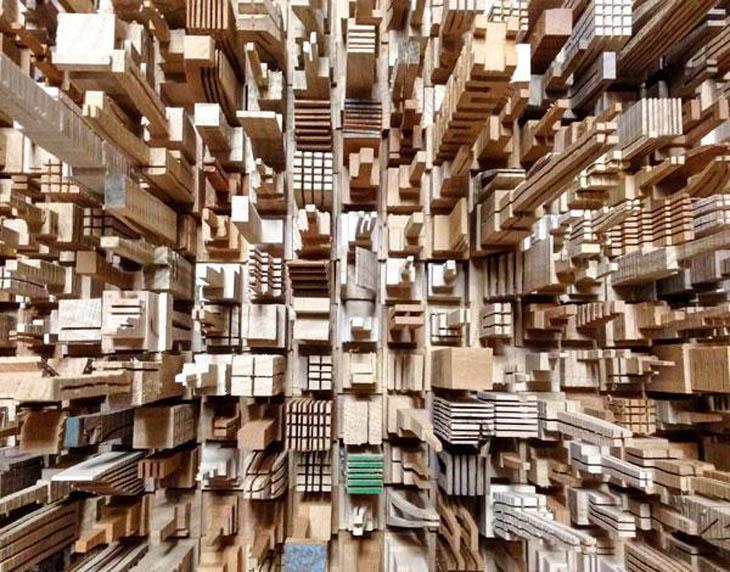 Wooden sculptures by James McNabb
