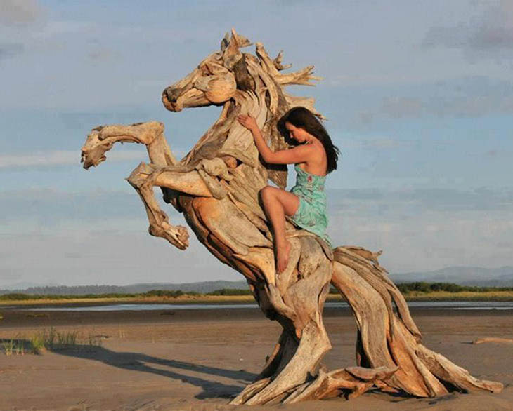 Driftwood Sculptures by Jeff Uitto