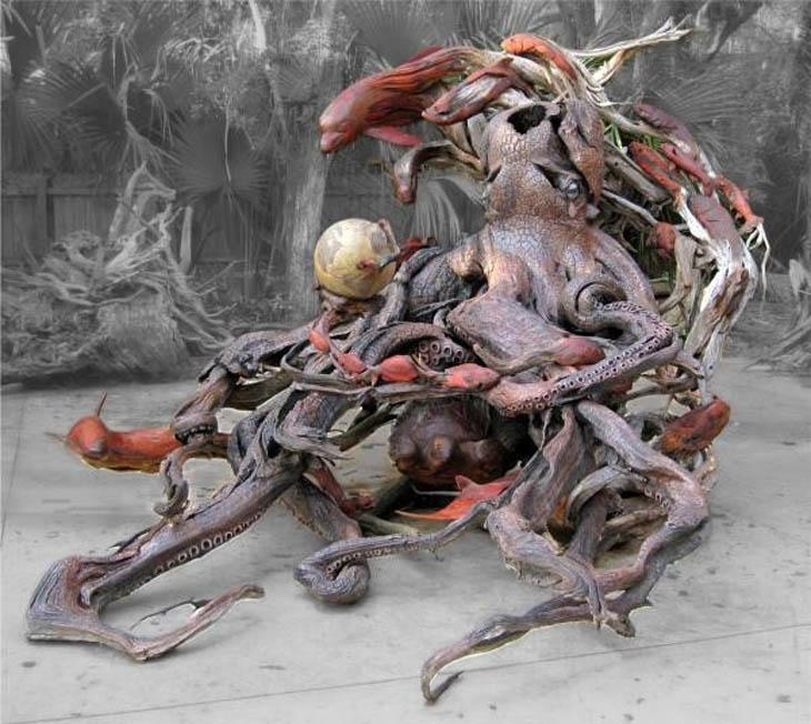 Wooden sculptures by Paul Baliker
