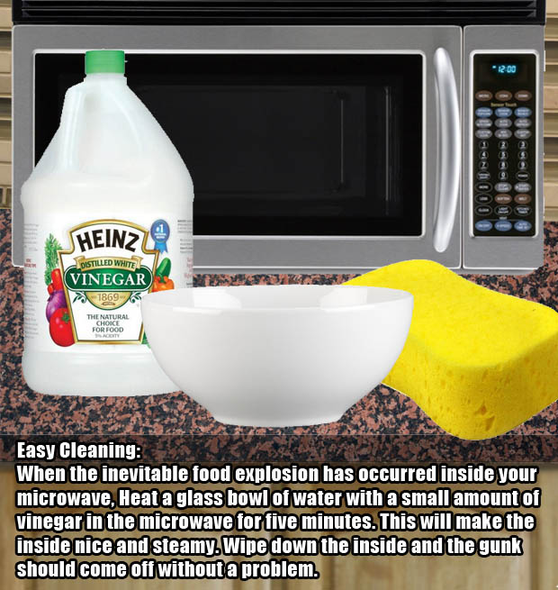 Easy way to clean a disgusting microwave.