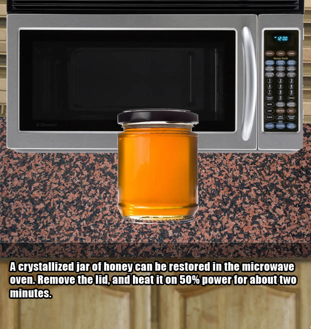 Restore crystallized old honey to its former glory.