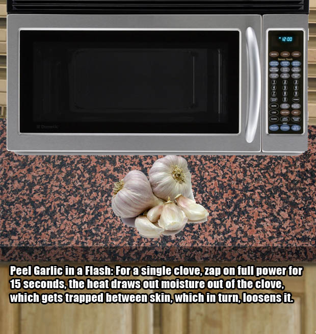 Peel garlic quickly and easily.