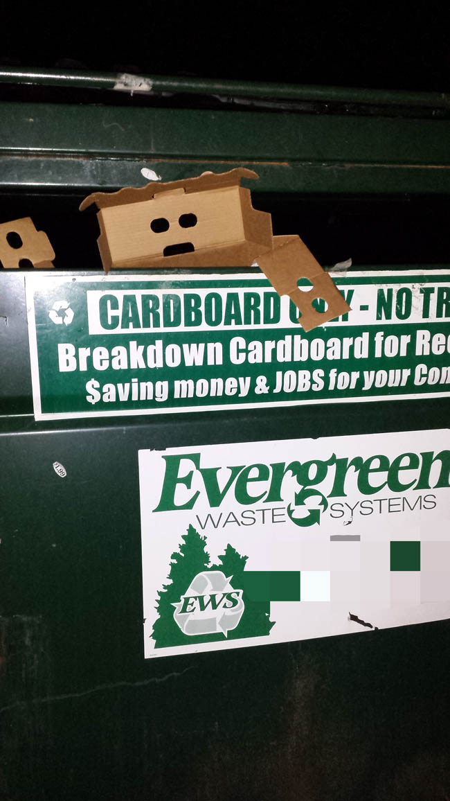 Some Cardboard In The Recycling