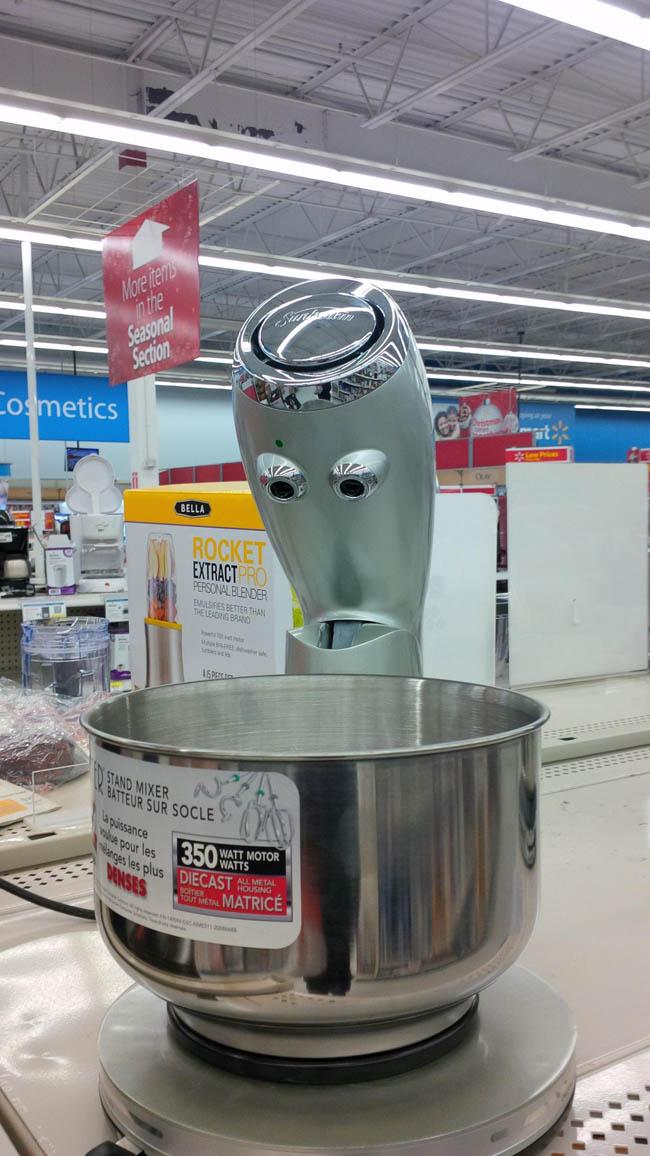 Surprised Shining Mixer