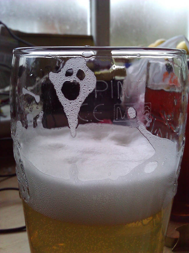 That's A Ghost In My Beer!
