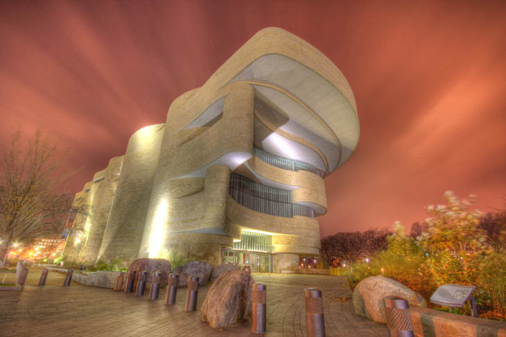Most weirdest buildings - National Museum of the American Indian in Washington DC