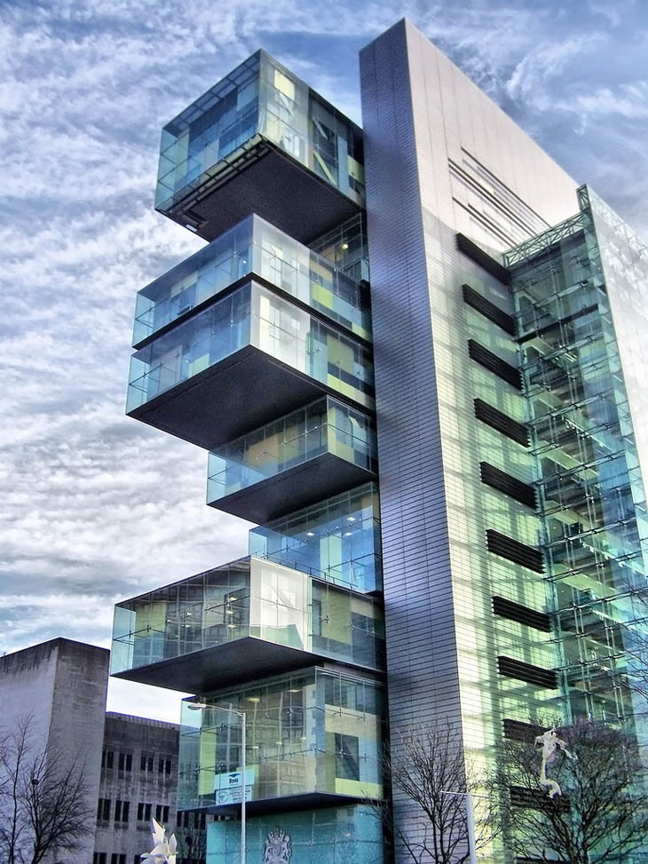 Most weirdest buildings - Civil Justice Centre, Manchester, England